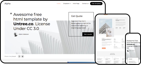Alpha free html5 bootstrap template