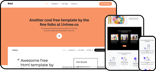 Bold Free HTML5 Bootstrap Template