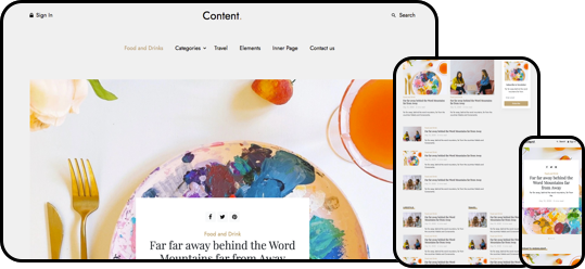 Content free html5 website template