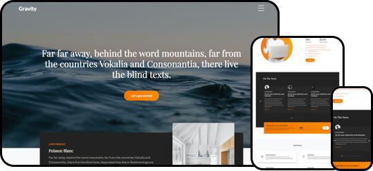 Gravity Free HTMlL5 Bootstrap Template
