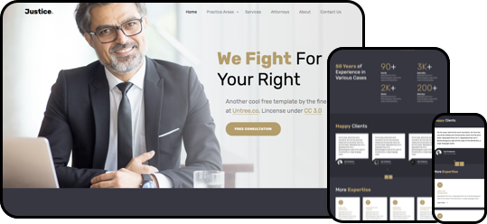 Justice Free HTML5 Template