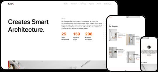 Kraft free html css website template