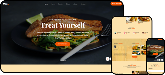 Meal Free HTML5 CSS Template