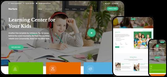 Nurture Free HTML CSS Template