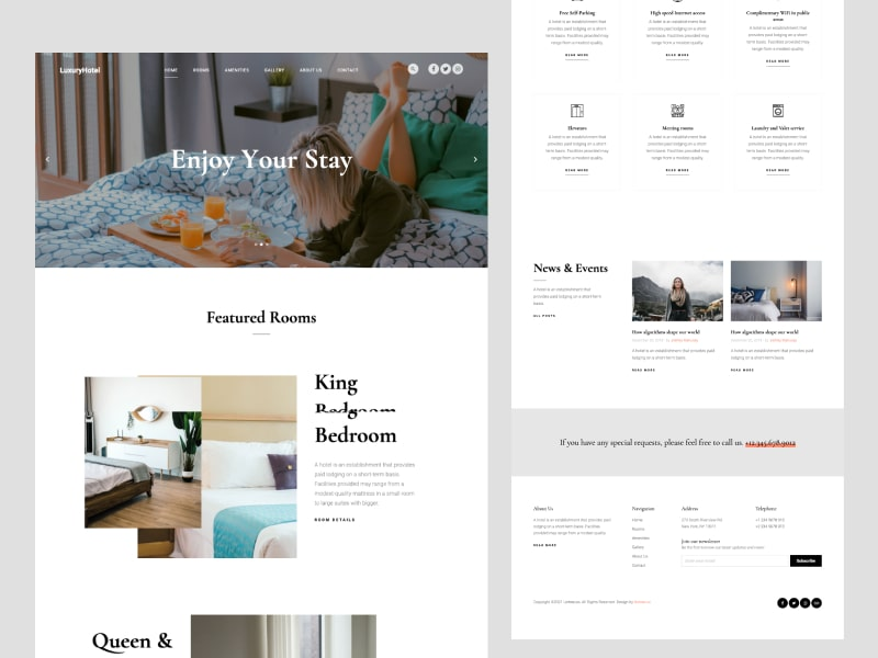 Untree.co - LuxuryHotel: Free HTML CSS Website Template for Hotel