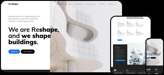 Reshape free html css website template