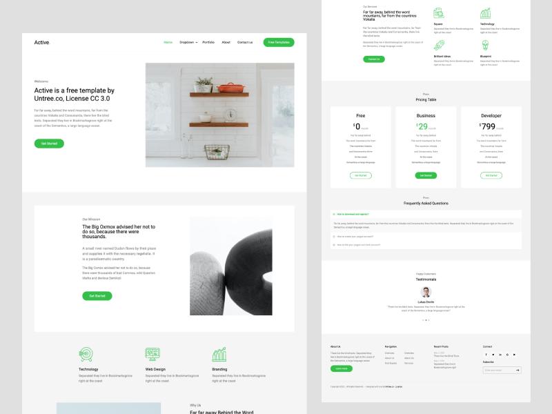 Untree.co - Active: Free Bootstrap 4 Template Multi-Purpose