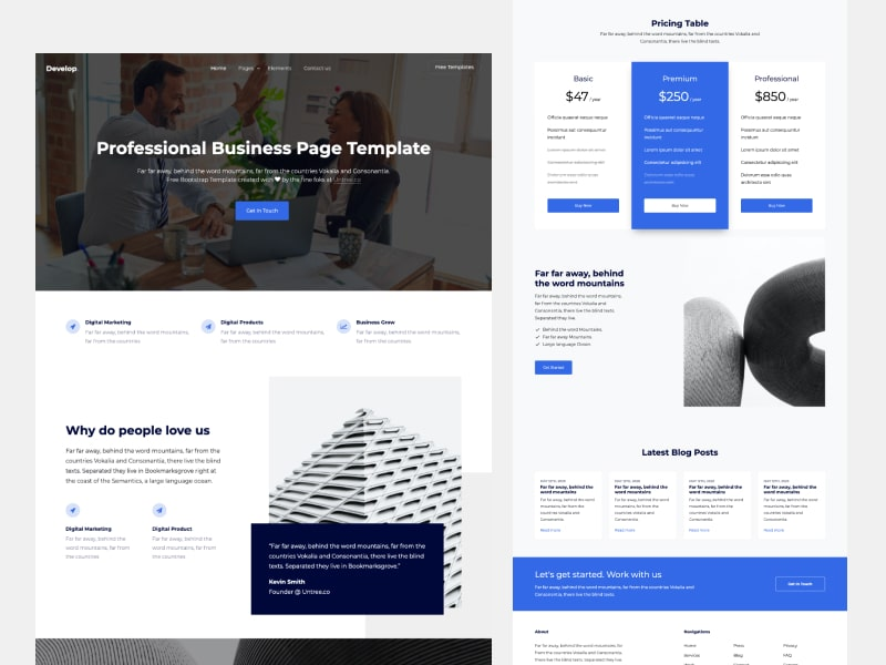 Untree.co - Develop: Free Bootstrap Template for Multi Purpose Website