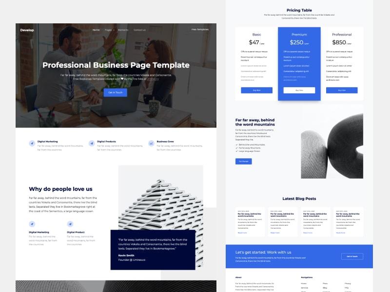 Untree.co - Develop: Free Bootstrap Template for Multi Purpose Website