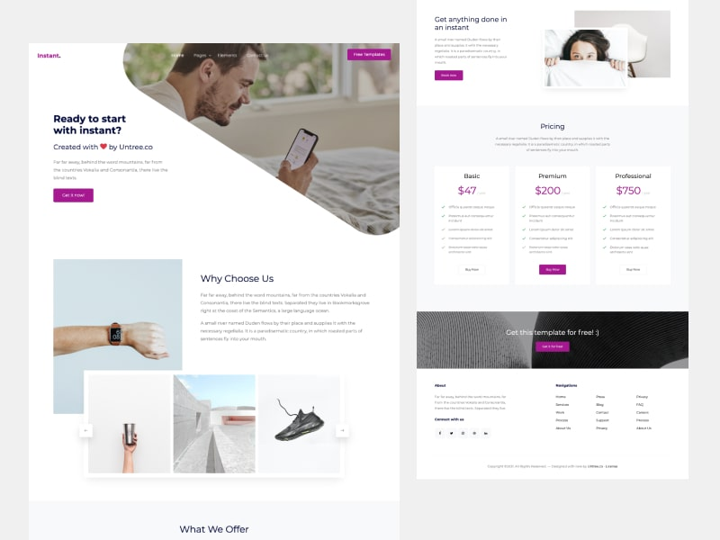 Untree.co - Instant Free Bootstrap Template