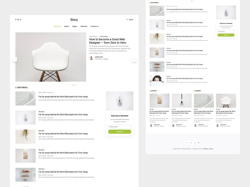 Untree.co - Story: Free Bootstrap Template for Personal Blog and Portfolio