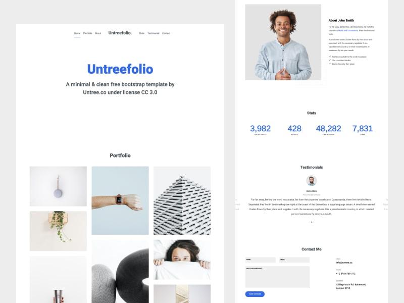Untree.co - Untreefolio - Free Onepage Portfolio Bootstrap Template