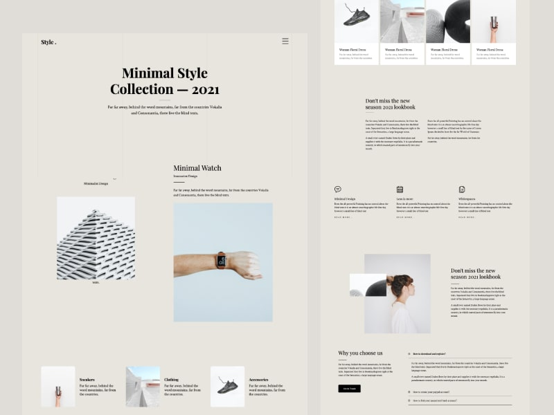 Style Free HTML Bootstrap 4 template