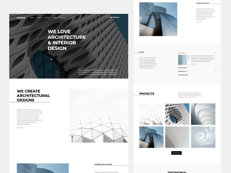 ArchiArk - Free Bootstrap Template For Architects