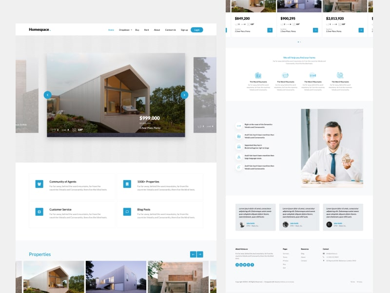 HomeSpace - Real Estate Template Free Download