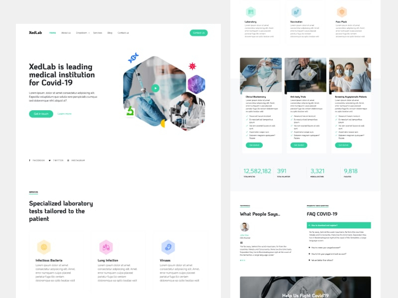 XedLab - Medical Website Template Free Download